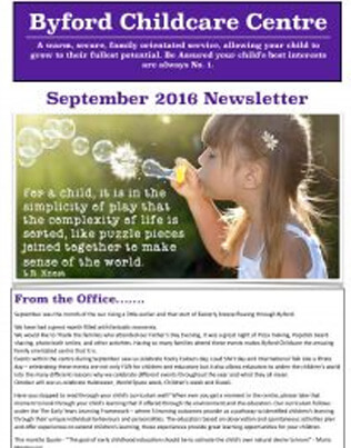 September 2016 Newsletter