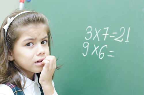 Is your child frightened of numbers?